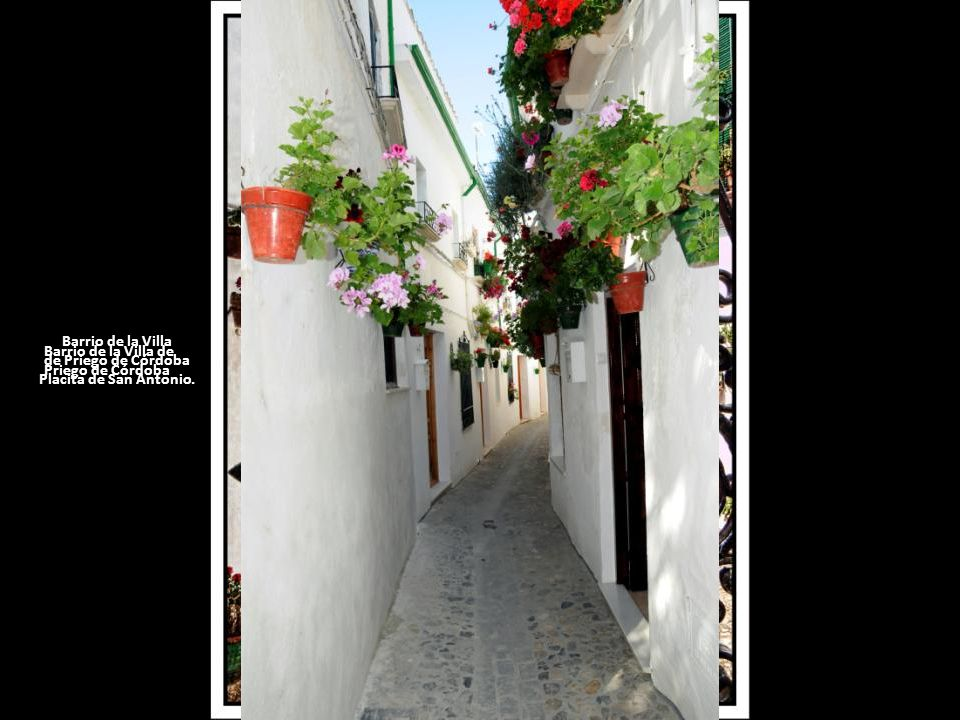 Barrio de la Villa de Priego de Córdoba. Placita de San Antonio.