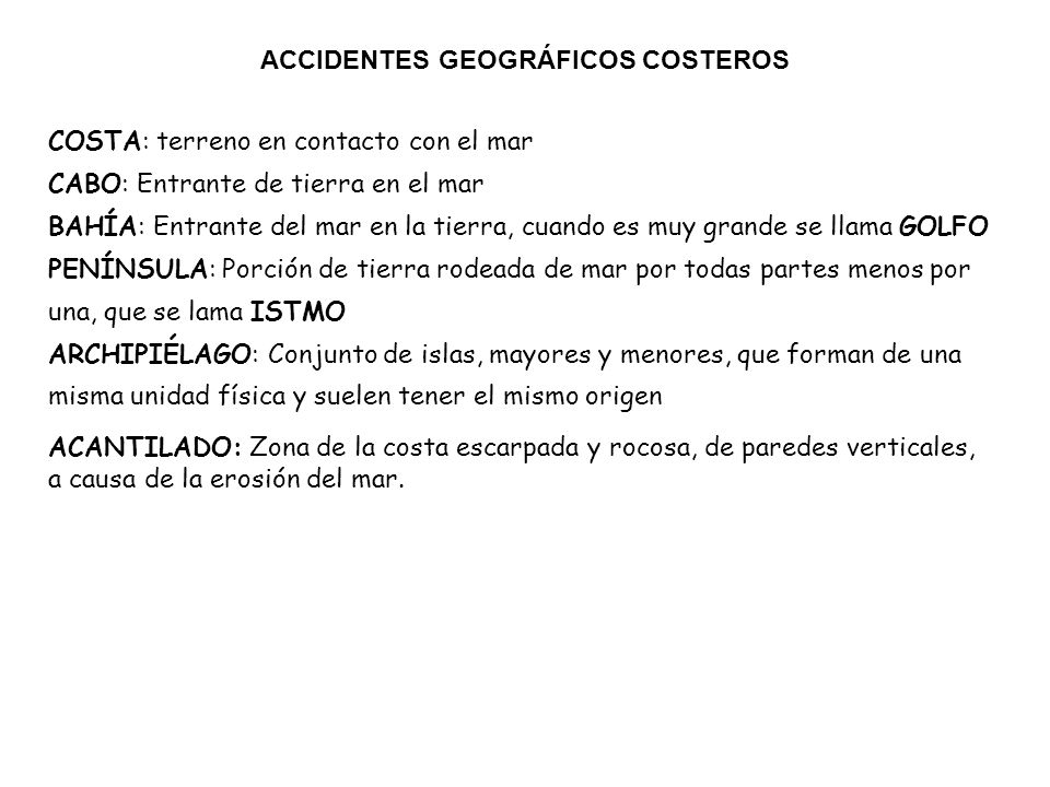ACCIDENTES GEOGRÁFICOS COSTEROS