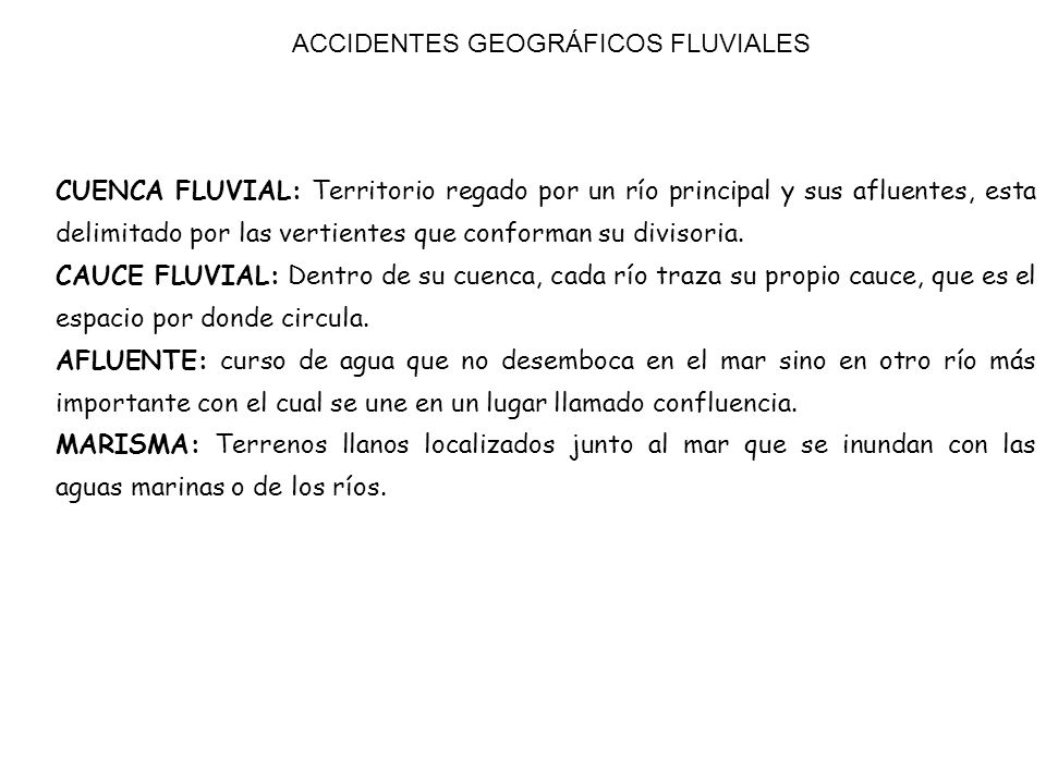 ACCIDENTES GEOGRÁFICOS FLUVIALES