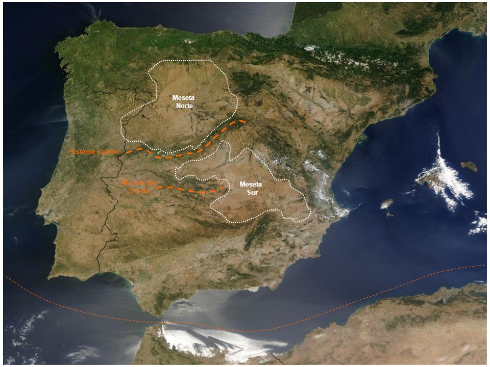 Meseta Norte Sistema Central Montes de Toledo Meseta Sur
