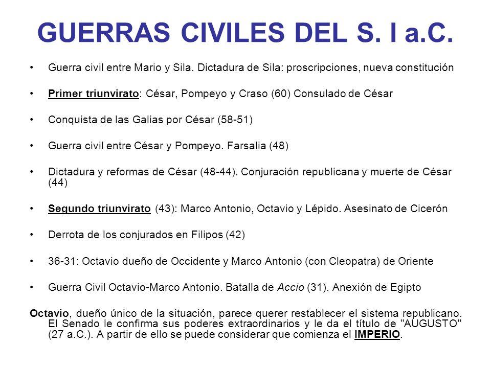 GUERRAS CIVILES DEL S. I a.C.