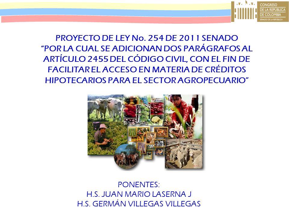 PROYECTO DE LEY No. 254 DE 2011 SENADO
