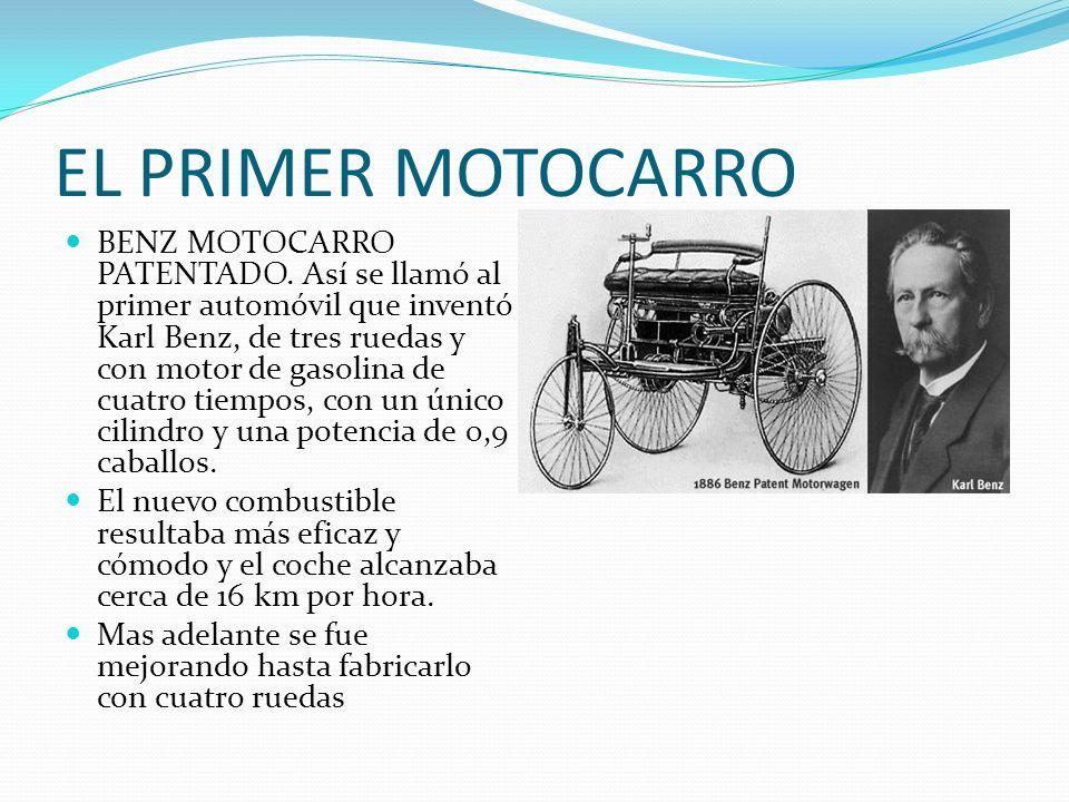 EL PRIMER MOTOCARRO