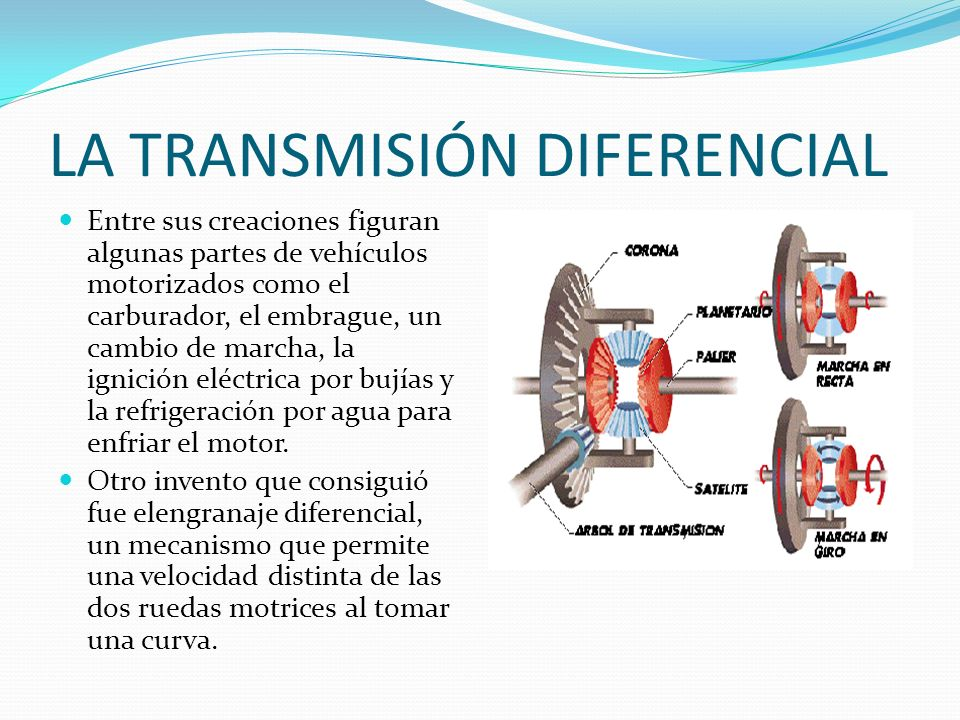 LA TRANSMISIÓN DIFERENCIAL