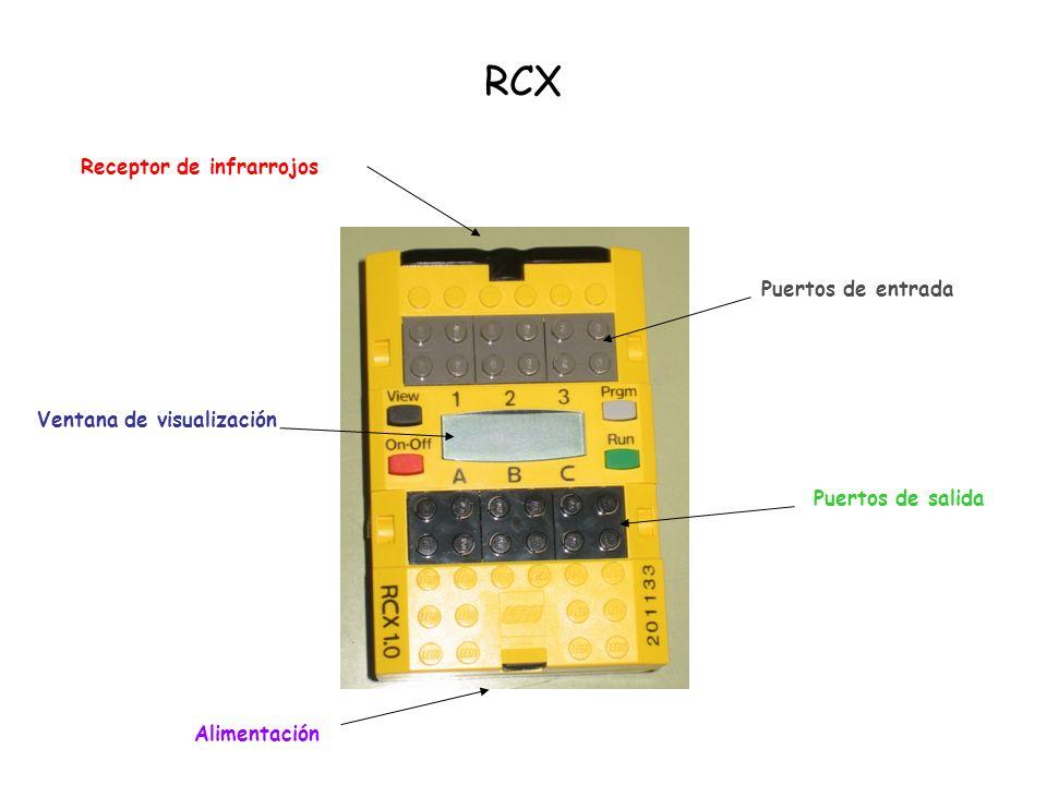 RCX Receptor de infrarrojos Puertos de entrada