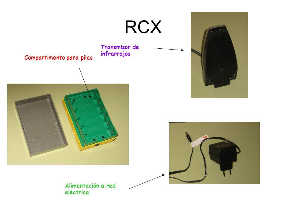 RCX Transmisor de infrarrojos Compartimento para pilas
