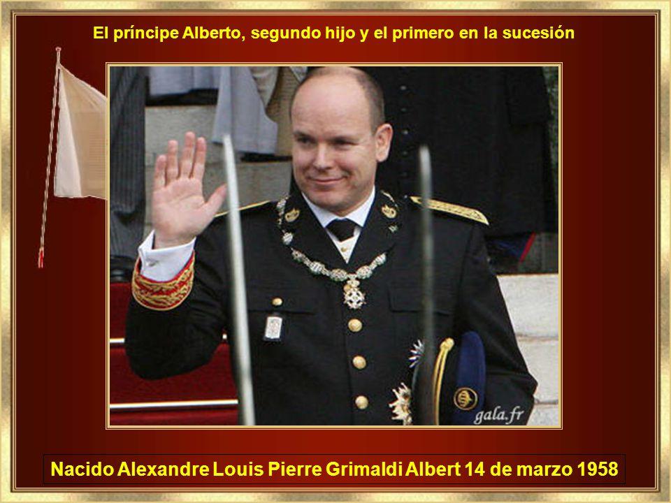 Nacido Alexandre Louis Pierre Grimaldi Albert 14 de marzo 1958