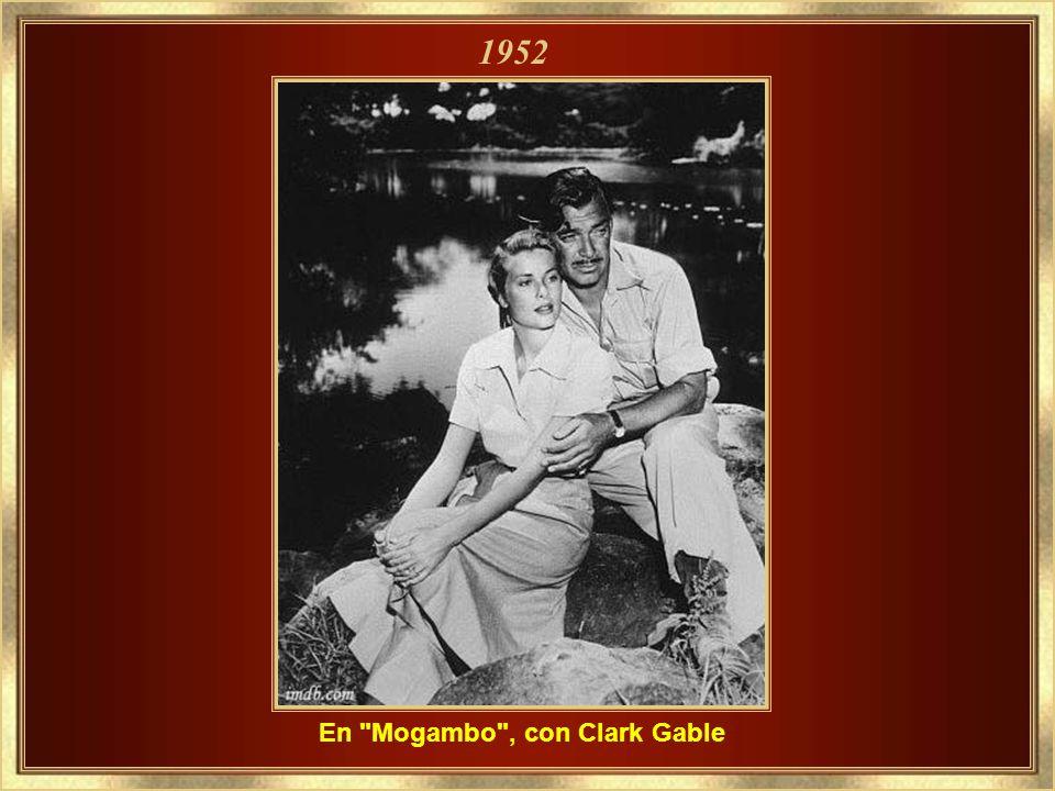 En Mogambo , con Clark Gable