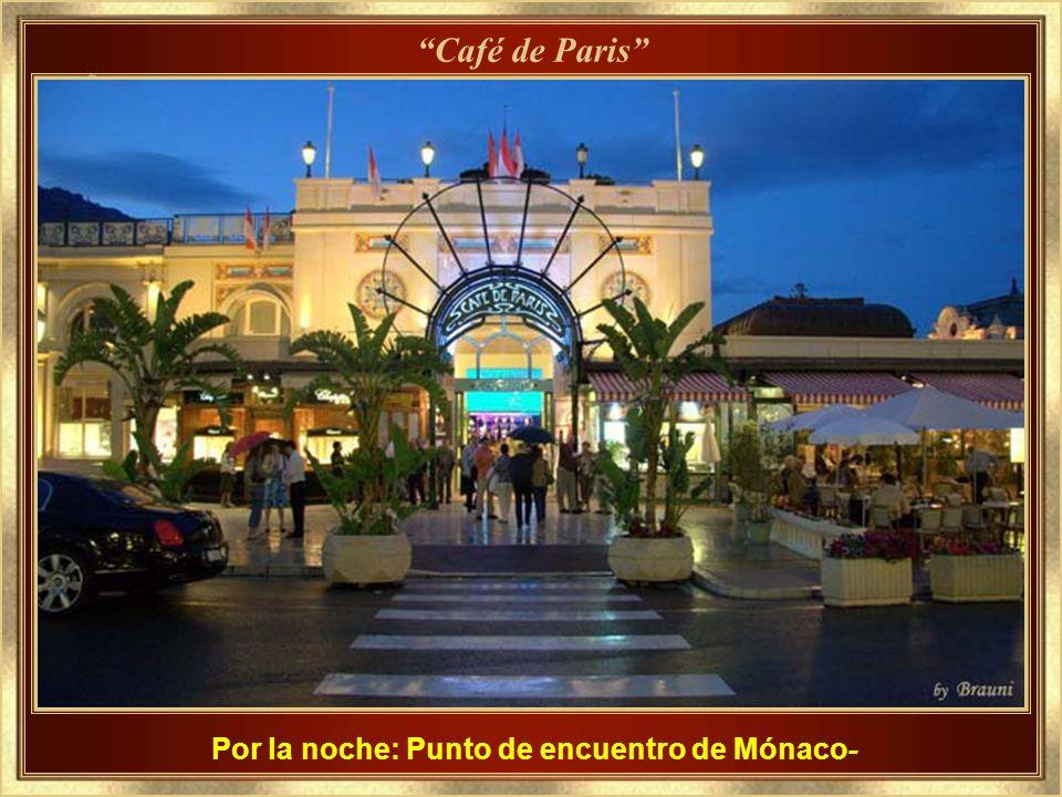 Por la noche: Punto de encuentro de Mónaco-
