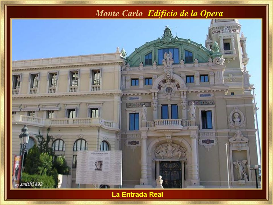 Monte Carlo Edificio de la Opera