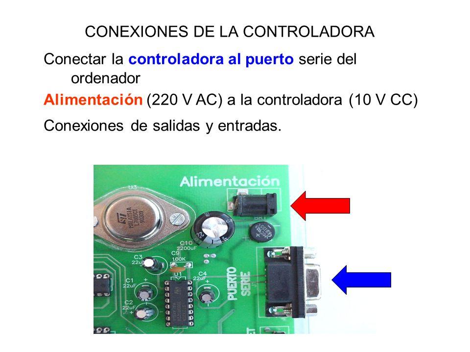 CONEXIONES DE LA CONTROLADORA