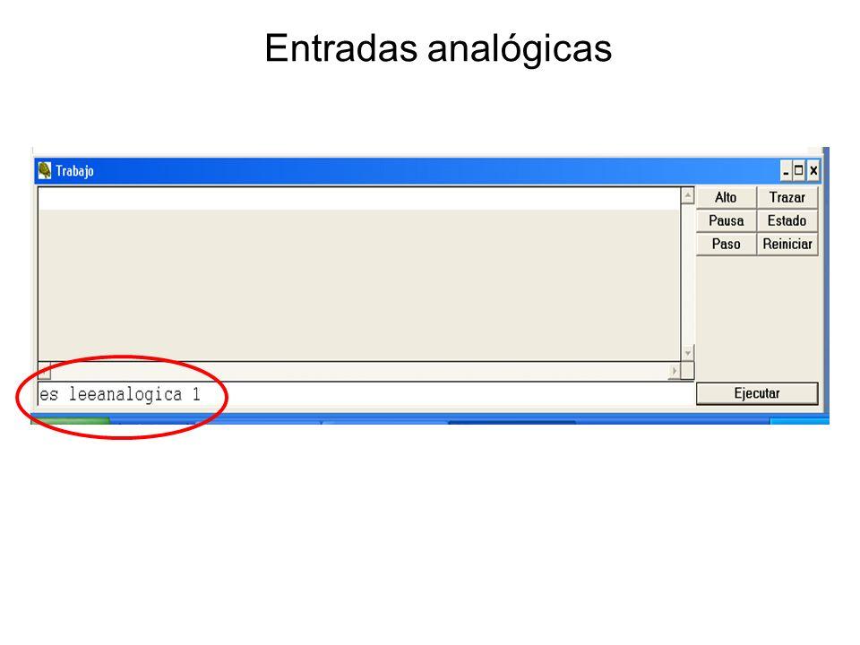 Entradas analógicas