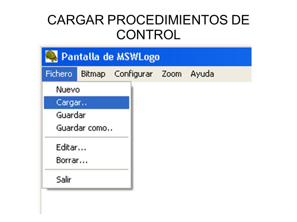 CARGAR PROCEDIMIENTOS DE CONTROL