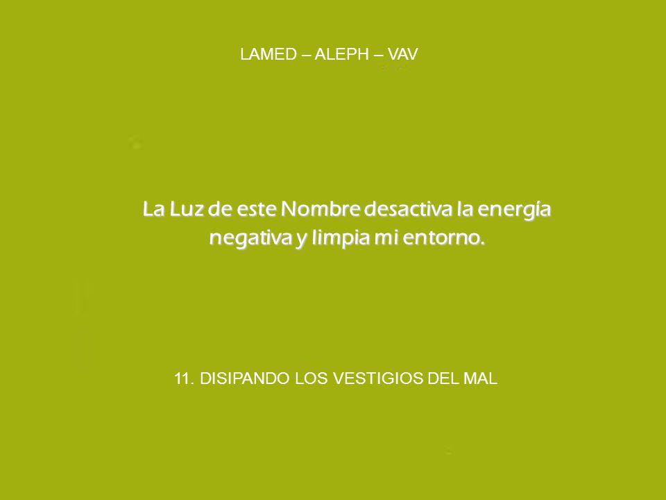 11. DISIPANDO LOS VESTIGIOS DEL MAL