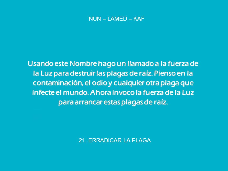 NUN – LAMED – KAF