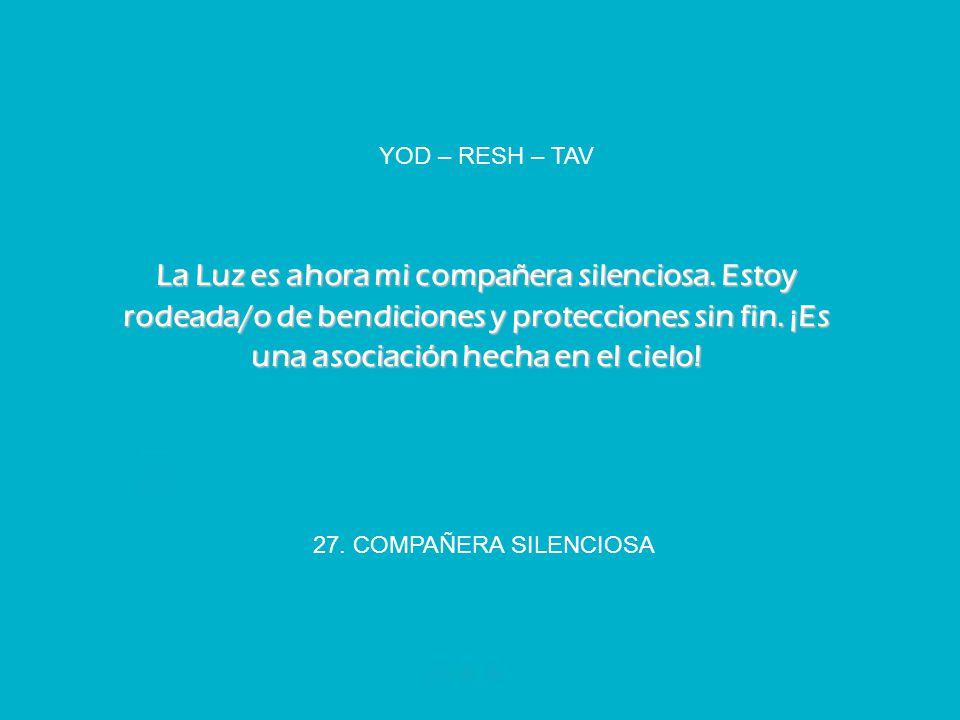 YOD – RESH – TAV