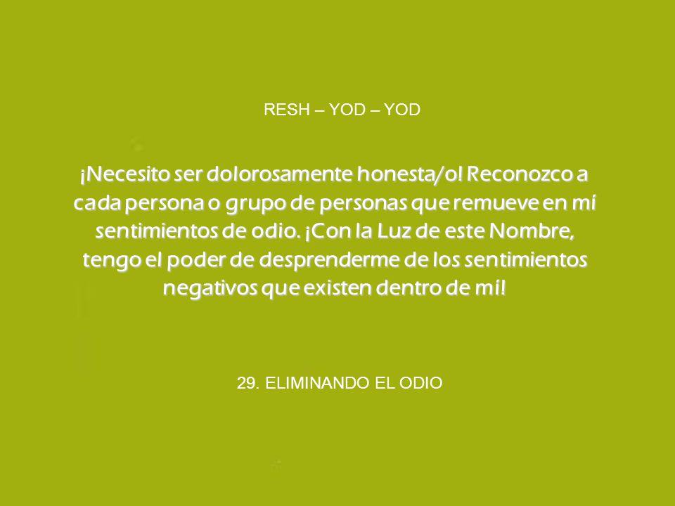 RESH – YOD – YOD