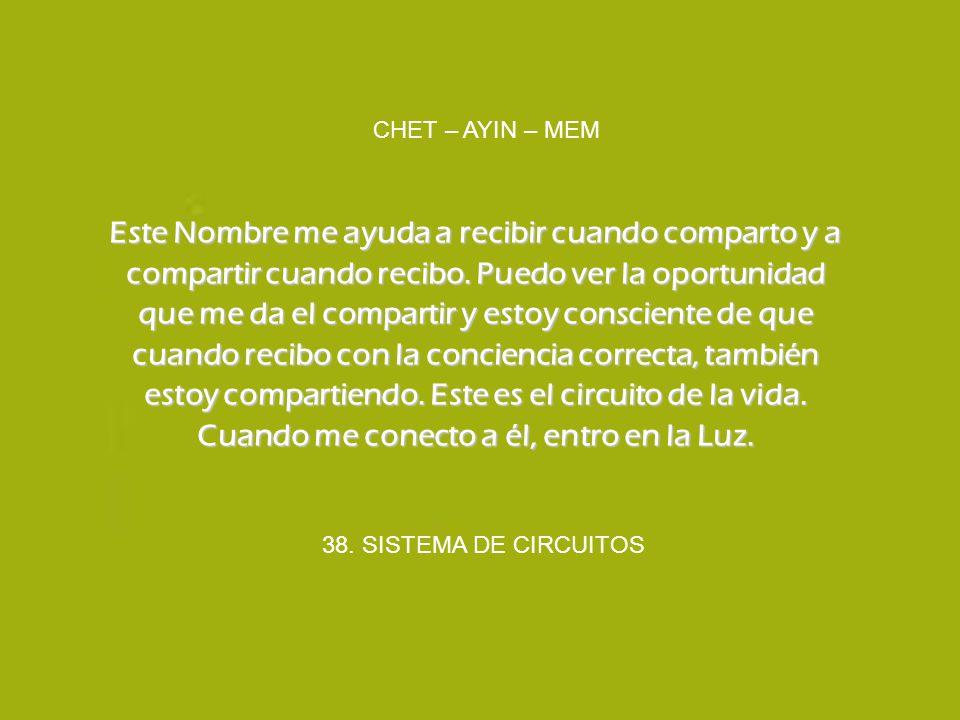 CHET – AYIN – MEM