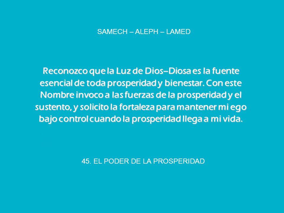 45. EL PODER DE LA PROSPERIDAD