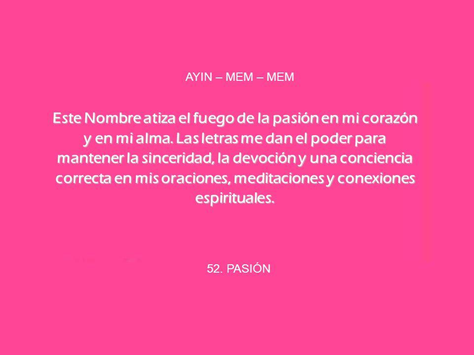AYIN – MEM – MEM