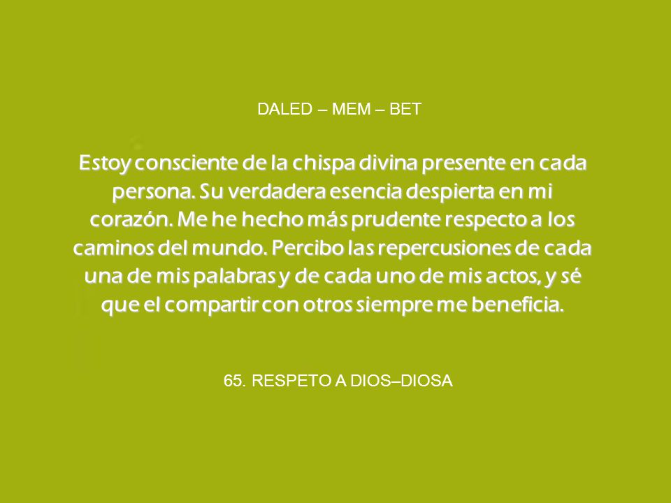 DALED – MEM – BET
