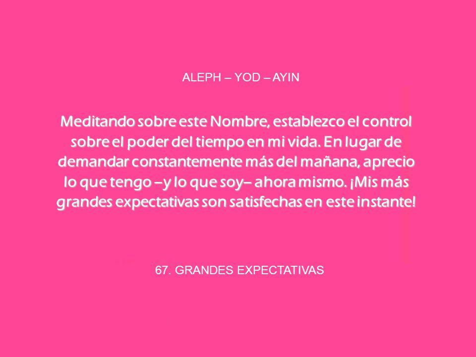 ALEPH – YOD – AYIN