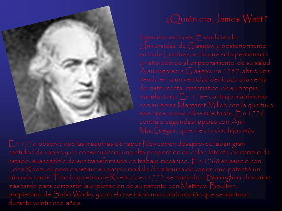 ¿Quién era James Watt