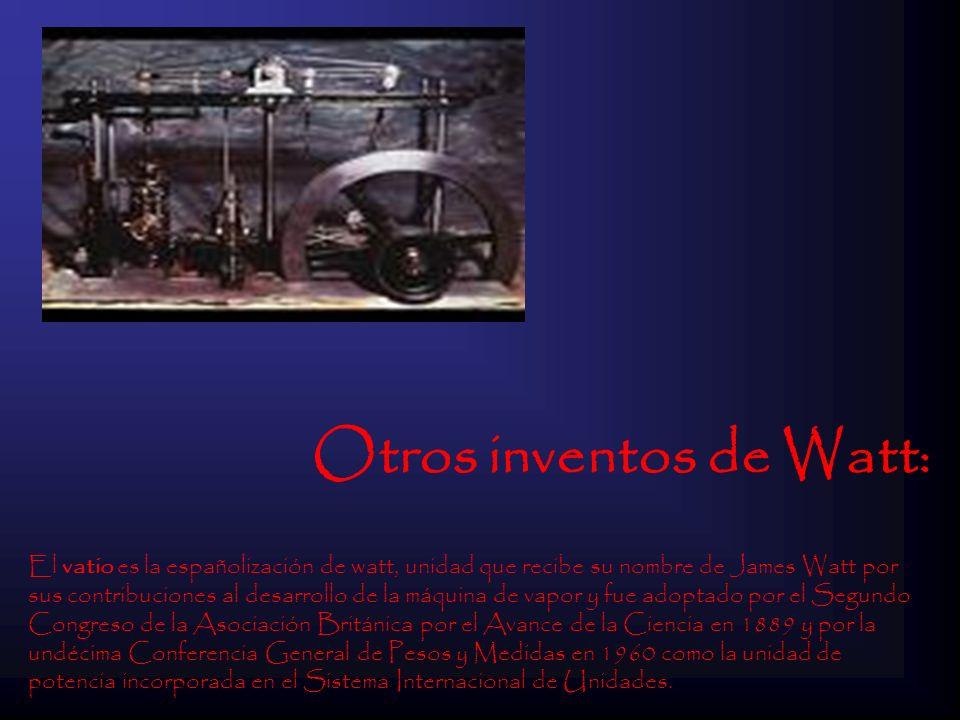 Otros inventos de Watt: