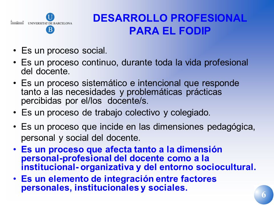DESARROLLO PROFESIONAL PARA EL FODIP