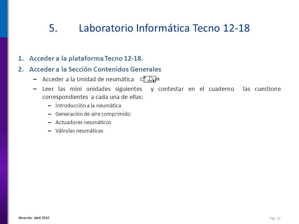 5. Laboratorio Informática Tecno 12-18