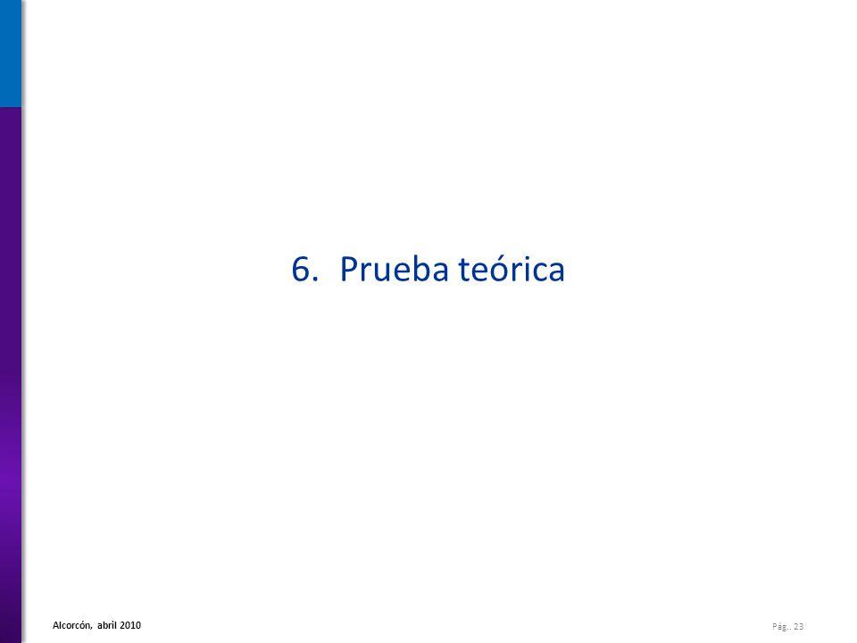 6. Prueba teórica