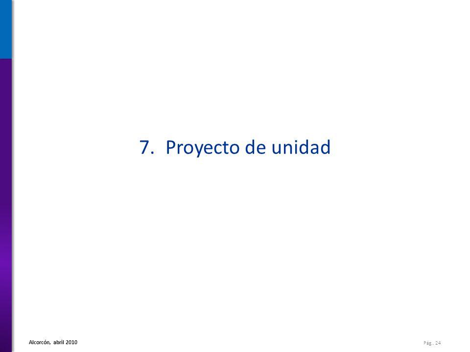 7. Proyecto de unidad