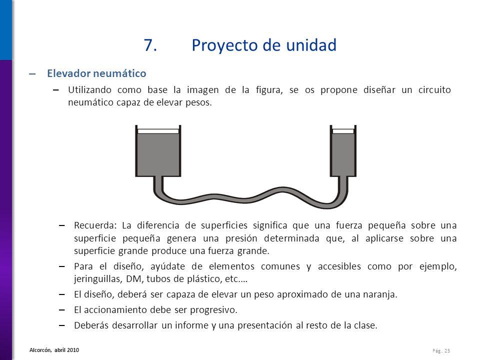 7. Proyecto de unidad Elevador neumático
