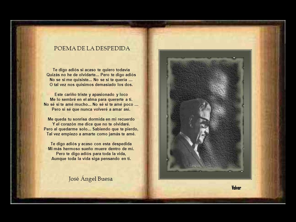 POEMA DE LA DESPEDIDA José Ángel Buesa Volver