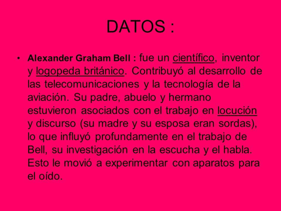DATOS :