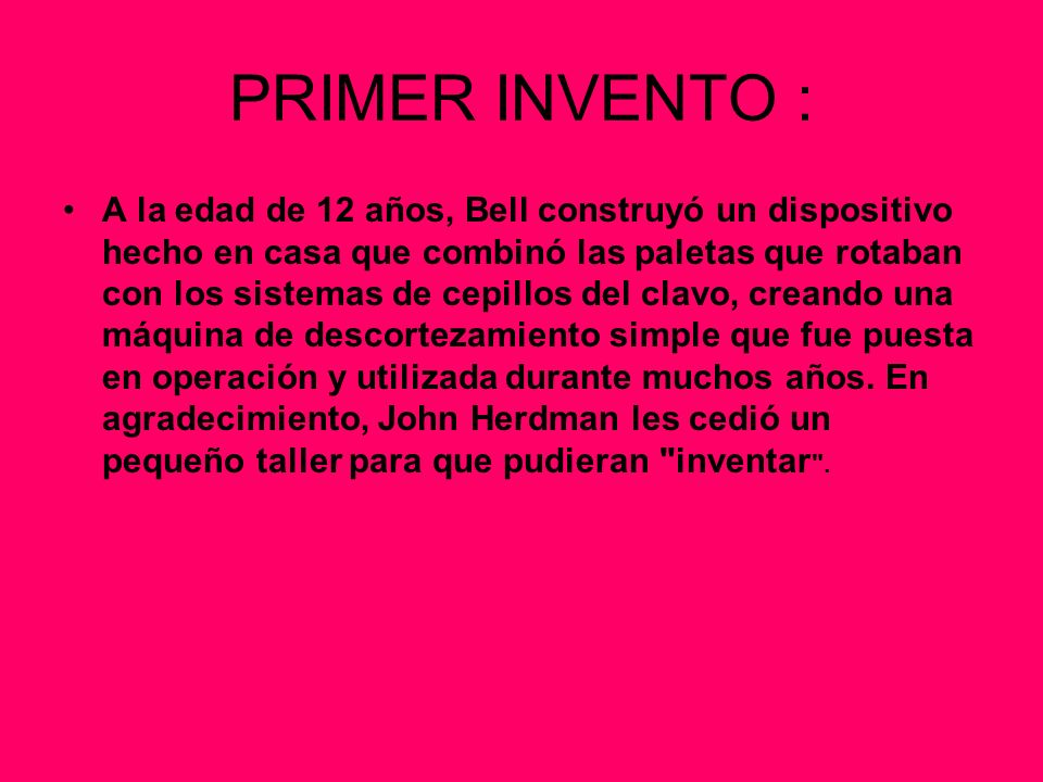 PRIMER INVENTO :