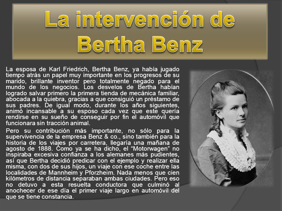 La intervención de Bertha Benz