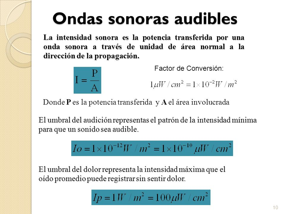 Ondas sonoras audibles