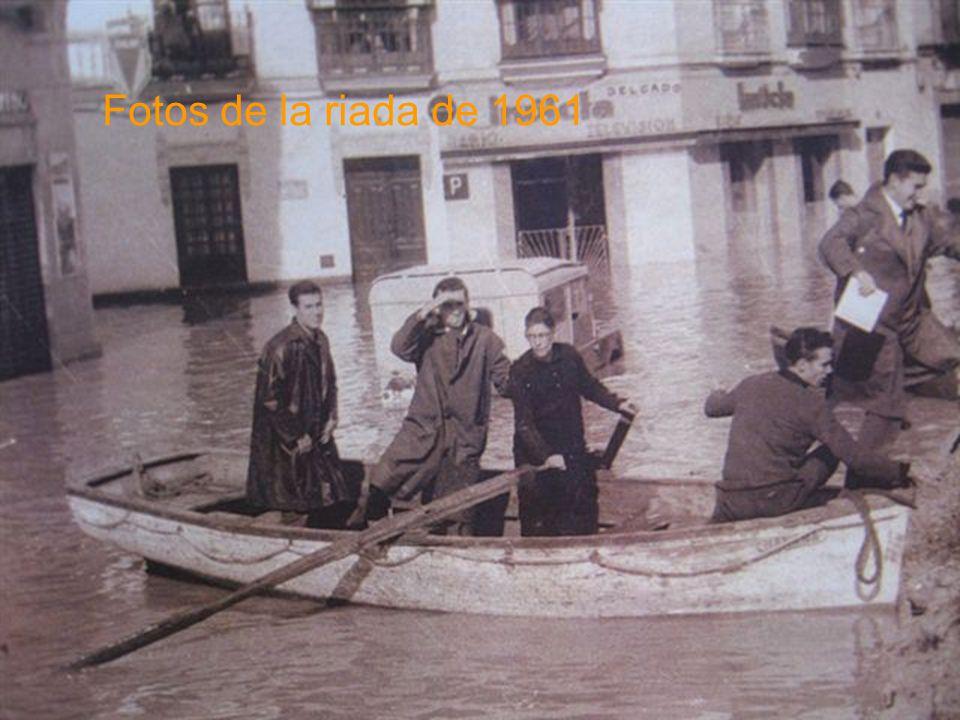 Fotos de la riada de 1961
