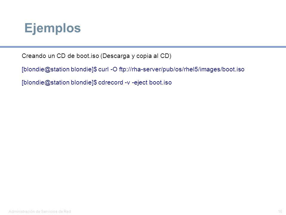 Ejemplos Creando un CD de boot.iso (Descarga y copia al CD)
