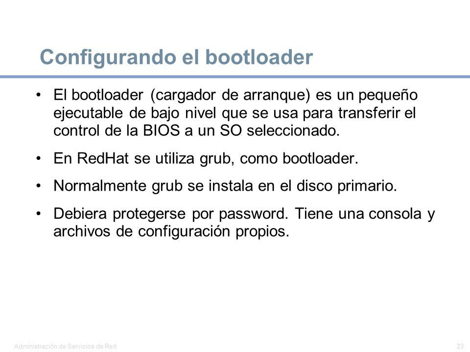 Configurando el bootloader