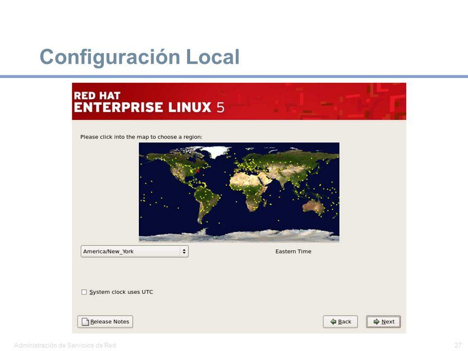Configuración Local