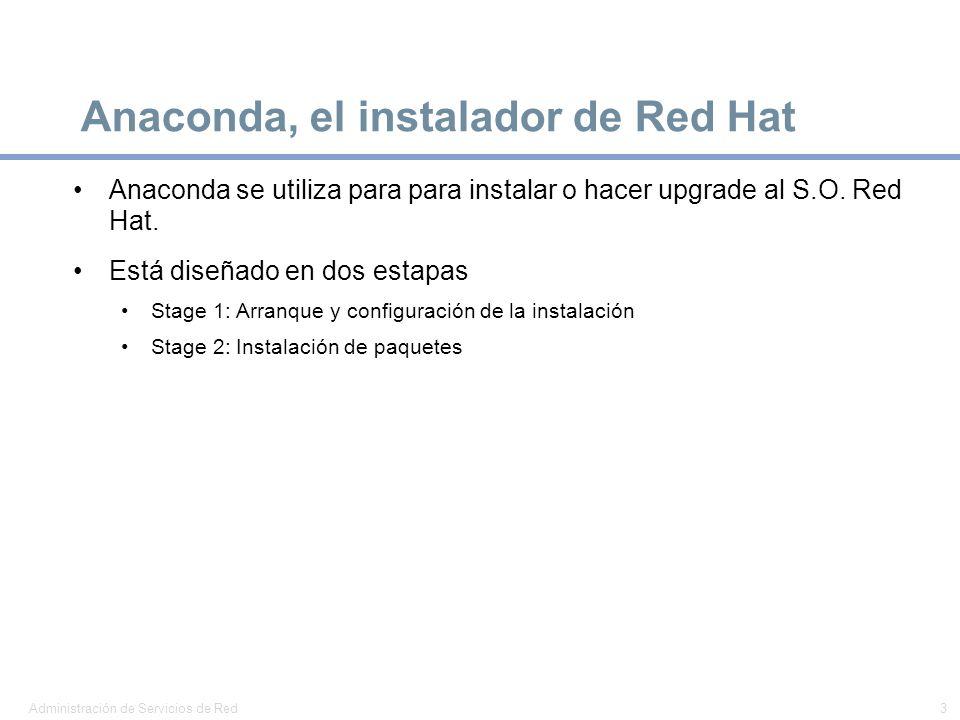 Anaconda, el instalador de Red Hat