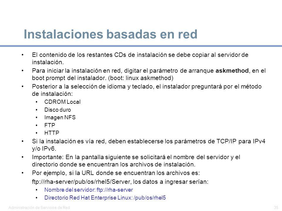 Instalaciones basadas en red