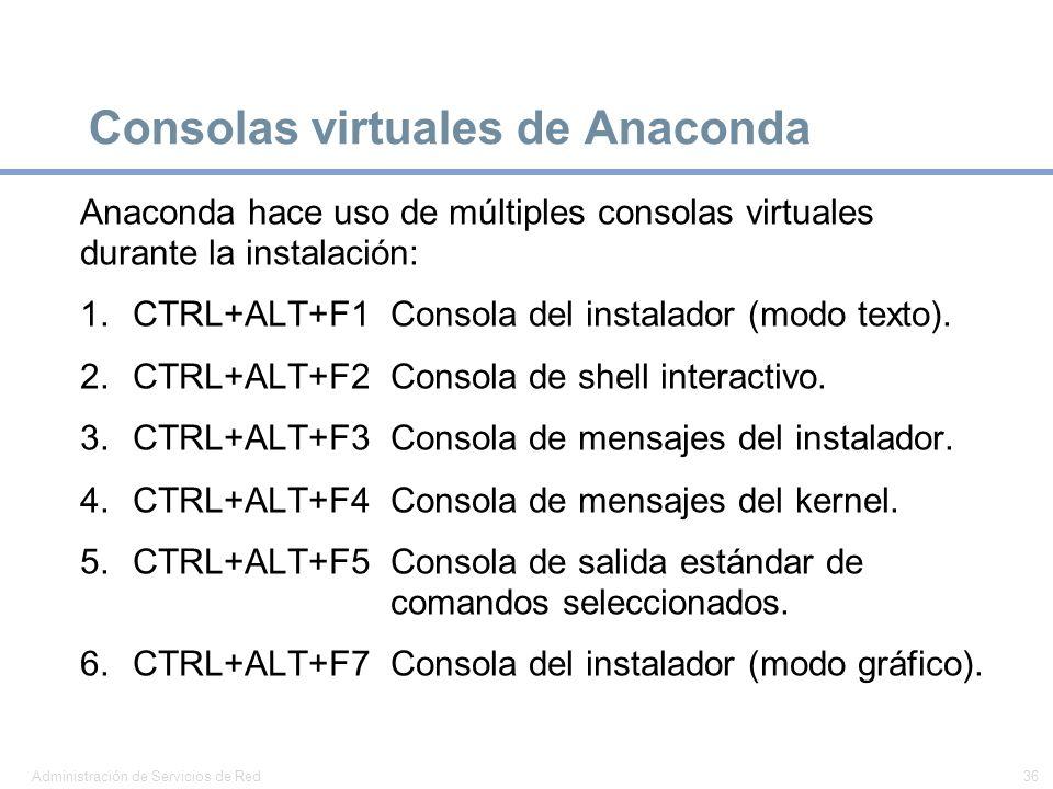 Consolas virtuales de Anaconda