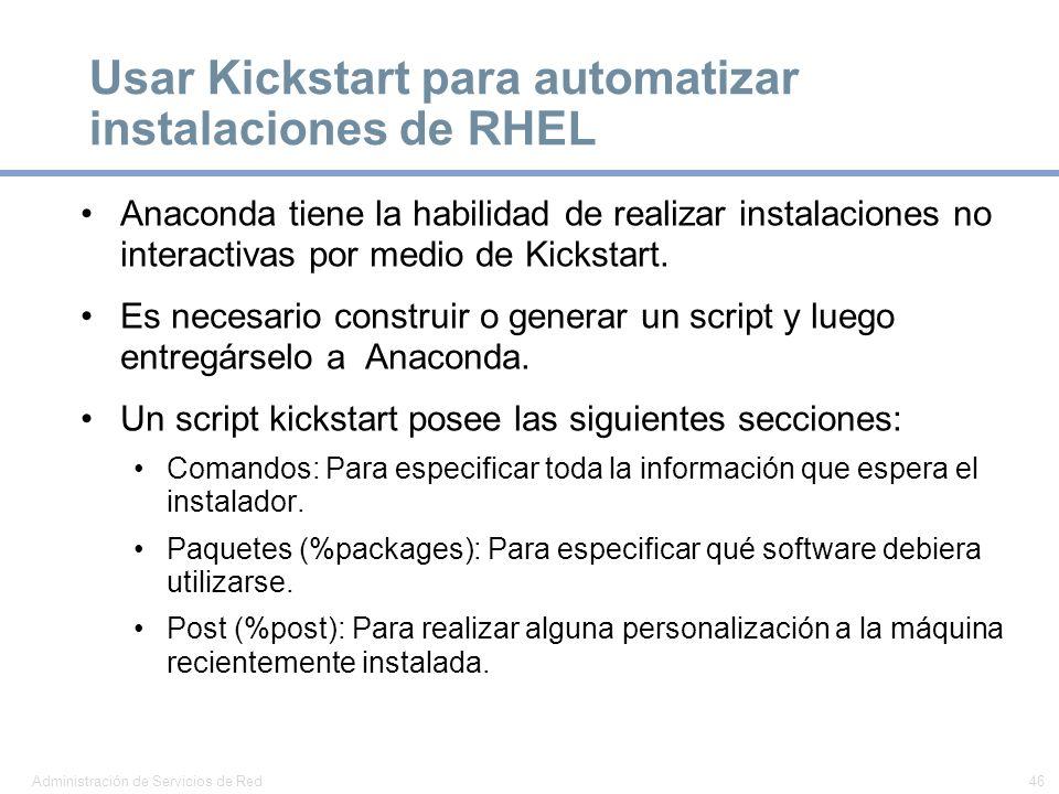 Usar Kickstart para automatizar instalaciones de RHEL