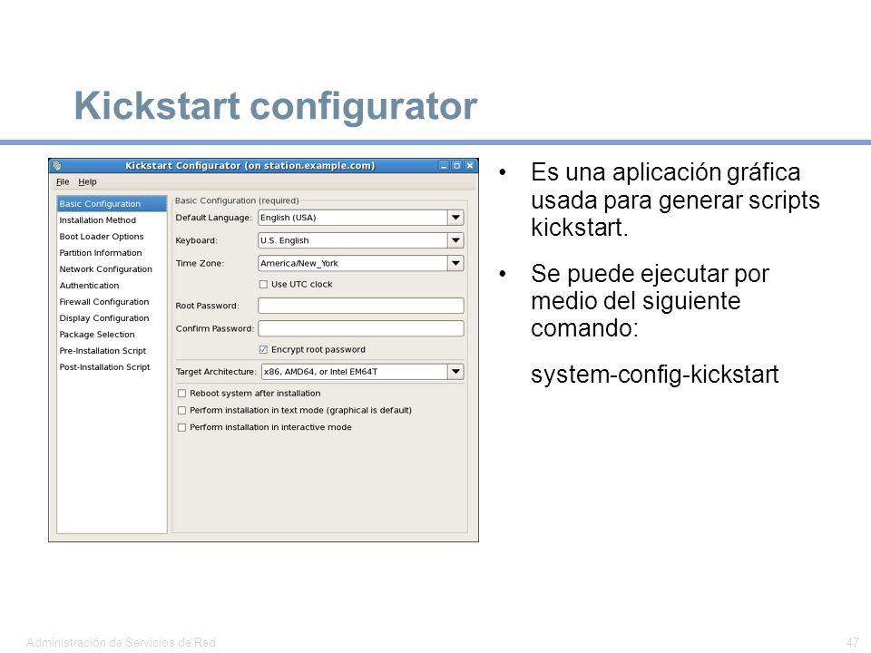Kickstart configurator