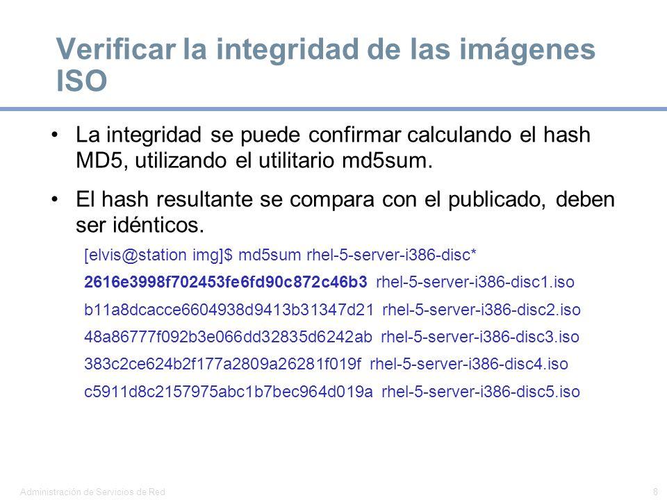 Verificar la integridad de las imágenes ISO