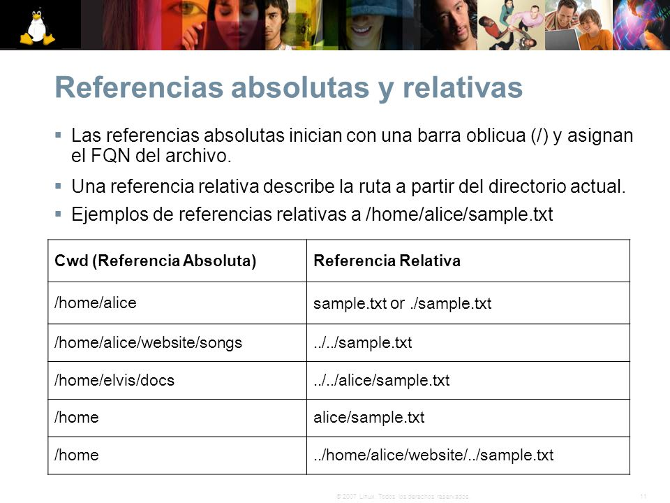 Referencias absolutas y relativas
