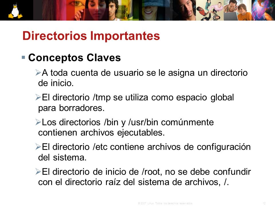 Directorios Importantes